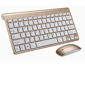 Wireless Keyboard Ultra Slim Portable Mouse Set For Mac Notebook TV Box Russian