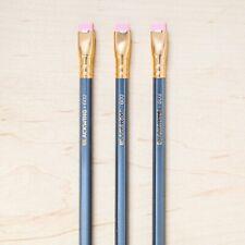 3 Blackwing 602 Pencils, Palomino, Cedar Wood, Firm Graphite, Pink Eraser