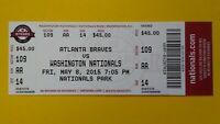 2015 BRYCE HARPER 2 HR #64 #65 Vintage Baseball Washington Nationals Ticket stub