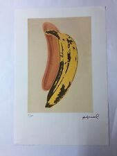Andy Warhol Litografia 57 x 38 Arches France Timbro Secco Galleria Arte A093
