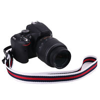 Striped Camera Shoulder Neck Strap Belt for Nikon Canon Sony DSLR Camera WD-E