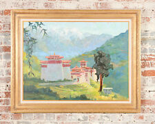 Peter Adams  - Tonza Tzong Monastery -Stunning Oil Painting  -Signed