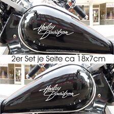 2 Aufkleber Harley Tankaufkleber 2er Set 18cm HD2 Tank Aufkleber Farbauswahl