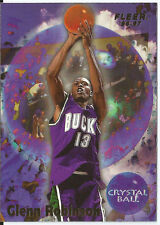 CARTE DE COLLECTION NBA BASKET BALL FLEER 96-97 CRYSTAL BALL GLENN ROBINSON N304