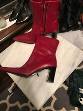 David Aaron Ankle Boots Red Pointed Toe