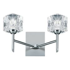 Searchlight 2 Lights LED Clear Glass Ice Cube Wall Bracket Light Indoor Lighting