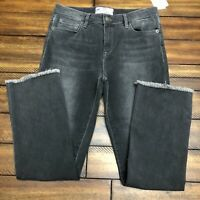 New $78 Free People Women's High Rise Crop Straight Leg Jeans Size 26 Gray NWT