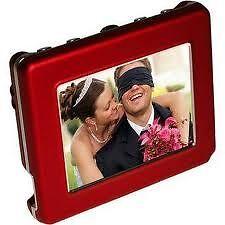 "Digital Foci Pocket Album OLED, Portable Digital 2.8"" Viewer  P20-130 Red"