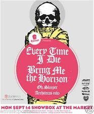 """Every Time I Die/Bring Me The Horizon """"Epitaph 2009 Tour"""" Seattle Concert Poster"""