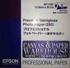 "LOT OF 4 Epson 44"" x 100' Semi Gloss Photo Paper Epson S041643"