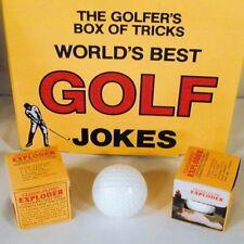 2 EXPLODING GOLF BALLS novelty gag joke sporting goods blowup ball prank trick