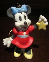 RARE Disney Schmid Minnie Mouse Ornament Ceramic Porcelain Figure Figurine