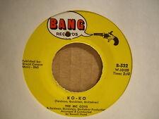 The MC COYS - Ko-Ko / Don't Worry Mother    BANG Records 532 - 45rpm