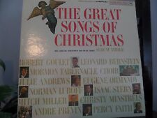 Vintage THE GREAT SONGS OF CHRISTMAS Musical Vinyl/Record/LP