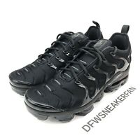 Nike Vapormax Plus Men's Size 10 Triple Black Shoes 924453-004 New