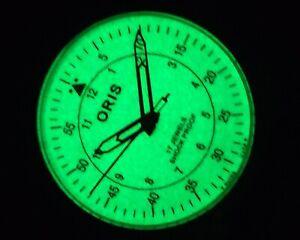 ANTIQUE WINDING GLOW IN DARK LUMINOUS DIAL SWISS MEN'S USED VINTAGE WATCH - 01