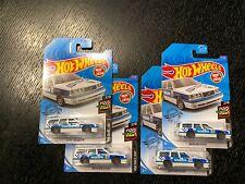 HOT WHEELS Blue White Volvo 850 Estate Wagon #57 LOT OF 4