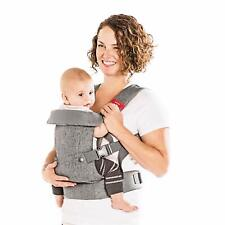 4-in-1 Convertible Baby Carrier with 3D Cool Air Mesh - Heather Grey - Up 32 Lb
