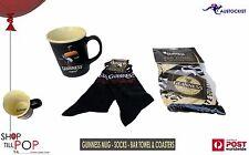 Guinness Pint Mug + Pair of Socks + Bar Towel & Coaster pack BNWT Ireland Party