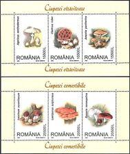 Romania 2003 Funghi/Funghi/Piante/NATURA 3 V M/S x 2 (s5889)