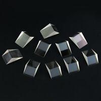 10 Stück Defekte Optisch Glasprisma Optik Tripelprisma für Physikunterricht DIY