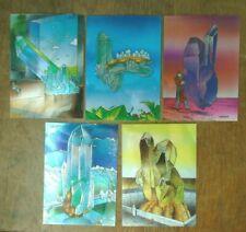 5 MOEBIUS CHROMIUM CHASE CARDS  2 to 6   COMIC IMAGES 1992