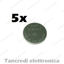 5X Batteria ricaricabile LIR2032 litio bottone rechargeable coin battery lithium