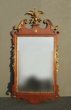 Antique American Chippendale Gold Eagle Crest Wall Mantle Mirror Federal Style