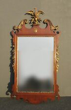 New listing Antique American Chippendale Gold Eagle Crest Wall Mantle Mirror Federal Style
