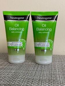 2 Neutrogena Oil Balancing Daily Exfoliator 150 ml Each