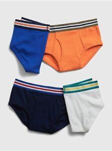 Gap Kids Boys Underwear Briefs Solid Briefs Pack 4 Size XXLarge XXL 14-16 New