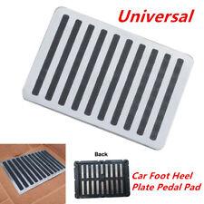 "Stainless Car Floor Carpet Mat Patch Foot Heel Plate Pedal Pad w/Screws 9"" x 6"""