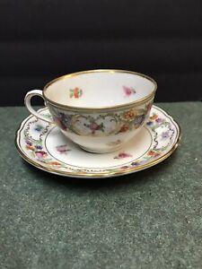 """Schumann Bavaria """"Empress Dresden Flowers"""" Cup and Saucer"""