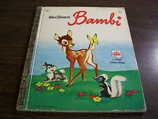 A LITTLE GOLDEN BOOK - WALT DISNEY'S BAMBI - D90 - VERY GOOD