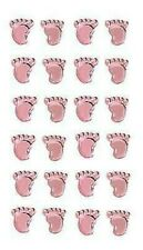 Eleganza Craft Stickers Girl Footprints Pearl Pink No.21o.21 (Baby Shower)