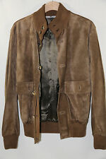 Valentino Hiver 2008 Soft Suede Leather Jacket Size Small