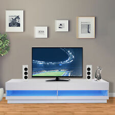 "HOMCOM 71"" High Gloss LED TV Cabinet Stand Entertainment Center Storage Unit"
