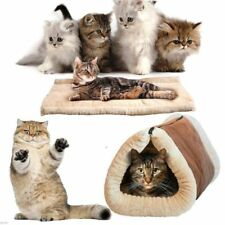 CAT DOG PORTABLE HOT & WARM KITTY SHACK 2 IN 1 SELF HEATING PET TUNNEL BED & MAT