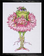 Design Works Cross Stitch Kit - Frog Bouquet