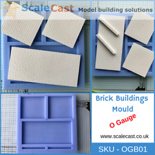 OGB03 O gauge BRICK BUILDINGS Mould Doors and Windows Sections O Scale