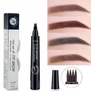 4-Tip Fork Microblading Eyebrow Pencil Tattoo Pen Waterproof Long-Lasting  2021