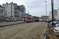 PHOTO  2012 BELGIUM TRAM BRUXELLES AVE MIDI TRAM NO 7940 ON ROUTE NO GEEN DIENST