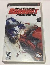 """Sony PSP """"Battle Racing Ignited Burnout Dominator"""" Game, UMD Disk Pamphlet used"""