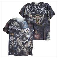 MINUTE MIRTH Joker Clown Skull Punk Rock Biker Tattoo Casual #M109 Men T-Shirt