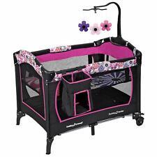 Baby Girl Nursery Center Playard Playpen Bassinet Nap Infant Sleeper Cradle Crib