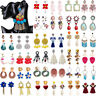 Boho Womens Crystal Pearl Earrings Ear Stud Tassel Dangle Drop Statement Jewelry