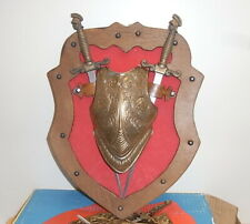 Shield made in Italy - Trofeo d'Armi - Wood / messing / leather