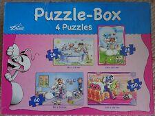 Diddlpuzzle, 4 Puzzles, 2 x 26, 1 x 60 + 1 x 100 Teile, komplett, gebraucht