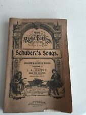 Schuberts Songs The Royal Edition Volume One English And German Words