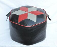 1960s Red and Grey pouffe